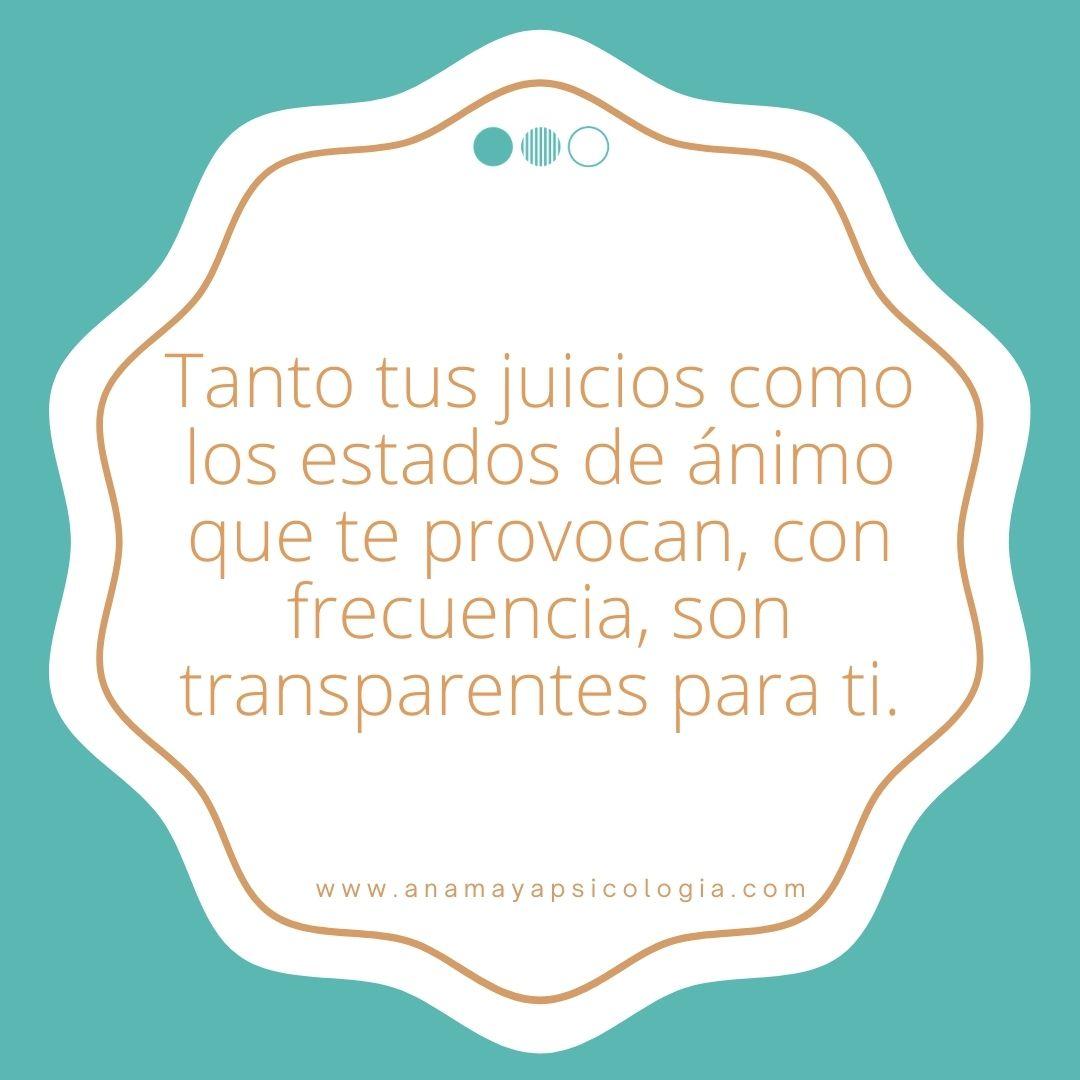 tus juicios son transparentes